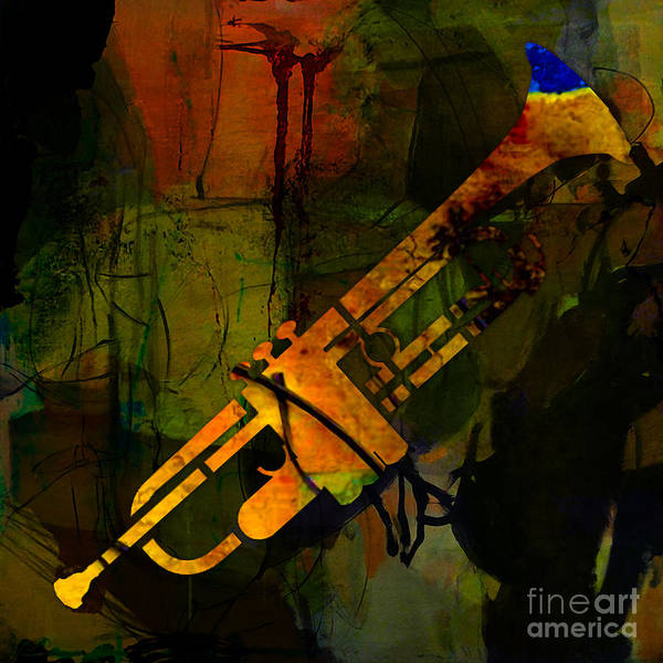Trumpet Mixed Media - Trumpet by Marvin Blaine