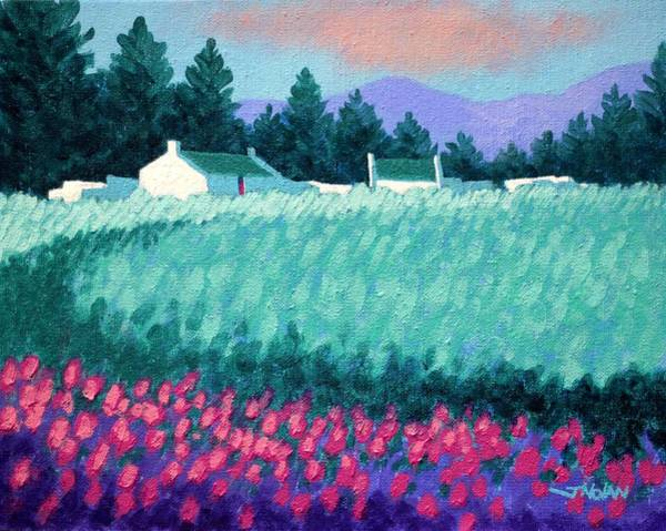 Atmospheric Painting - Turquoise Meadow by John  Nolan
