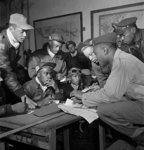 Photograph - Tuskegee Airmen, 1945 by Granger