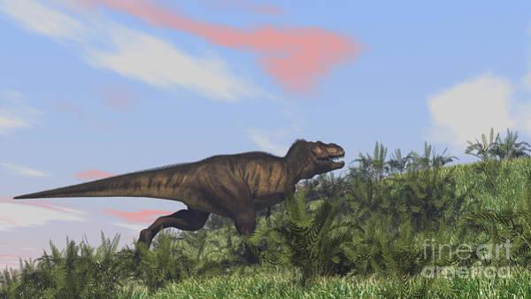 Digital Art - Tyrannosaurus Rex Hunting In An Open by Kostyantyn Ivanyshen