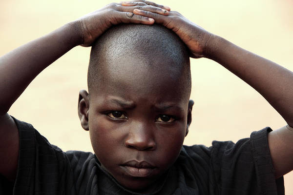 Uganda Wall Art - Photograph - Ugandan Boy by Mauro Fermariello/science Photo Library