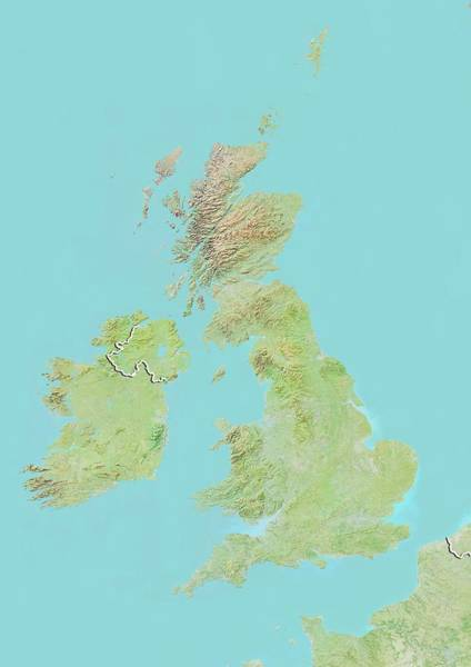 Channel Isles Photograph - United Kingdom by Planetobserver/science Photo Library