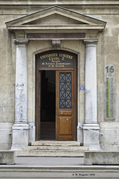 Photograph - Universite Lumiere by Allen Sheffield
