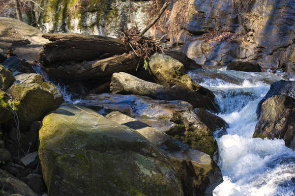 Photograph - unnamed NC waterfall by Chris Flees