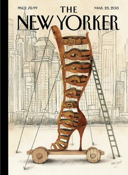 Shoe Painting - New Yorker March 25th, 2013 by Ana Juan