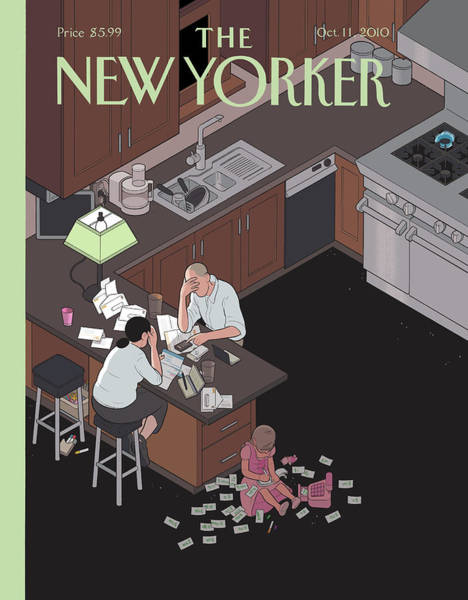 America Painting - New Yorker October 11th, 2010 by Chris Ware