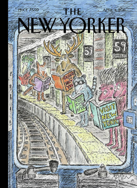 Book Painting - New Yorker April 4th, 2011 by Edward Koren