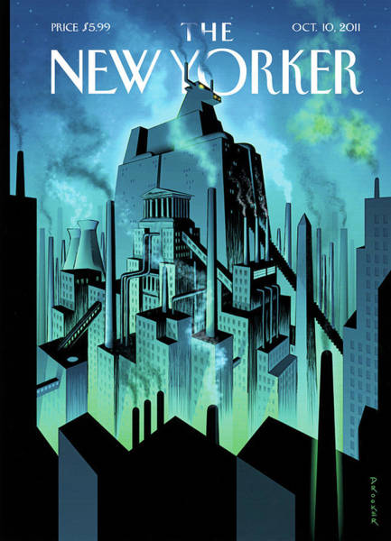 Wall Painting - New Yorker October 10th, 2011 by Eric Drooker