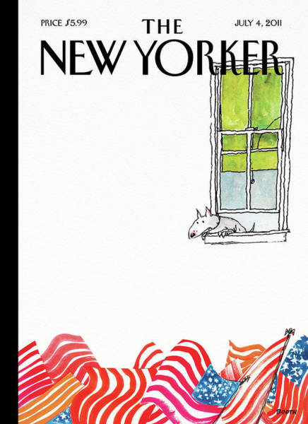 Painting - New Yorker July 4th, 2011 by George Booth