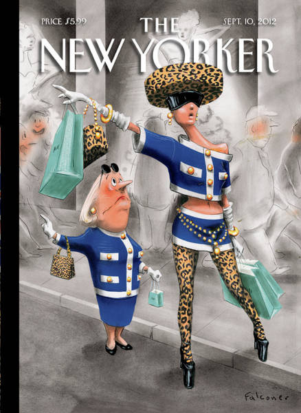 Shopping Painting - New Yorker September 10th, 2012 by Ian Falconer