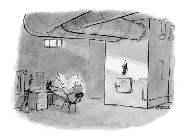 Interior Drawing - New Yorker December 26th, 2005 by Jason Patterson
