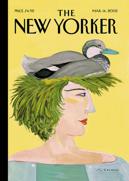 Women Painting - New Yorker March 14th, 2005 by Maira Kalman