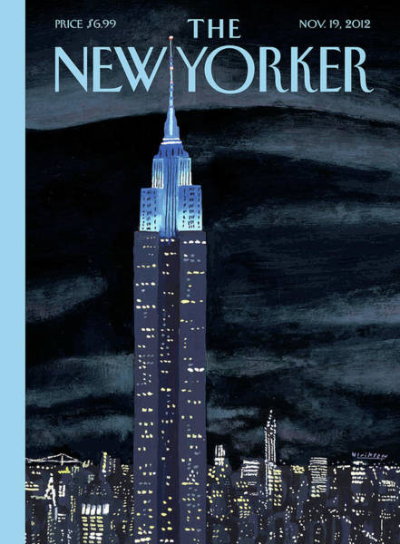 Skyscrapers Painting - New Yorker November 19th, 2012 by Mark Ulriksen