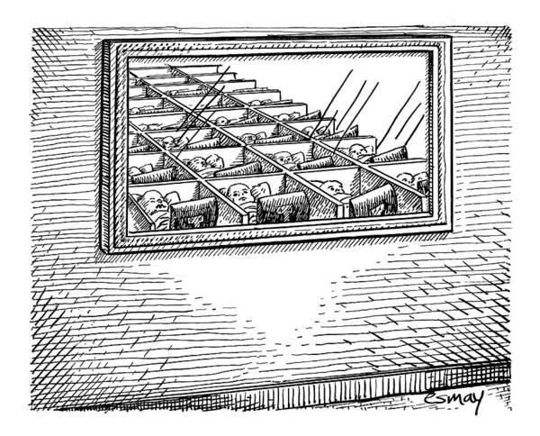 Newborn Drawing - New Yorker May 12th, 2008 by Rob Esmay