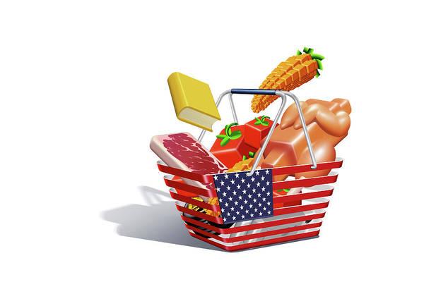 Basket Stars Photograph - Us Inflation Index by Smetek