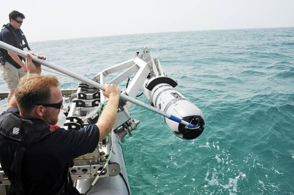 Bahrain Photograph - Us Navy Underwater Mine Clearance Drone by Us Navy