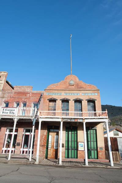 Virginia City Photograph - Usa, Nevada Historic Miner's Union Hall by Michael Defreitas