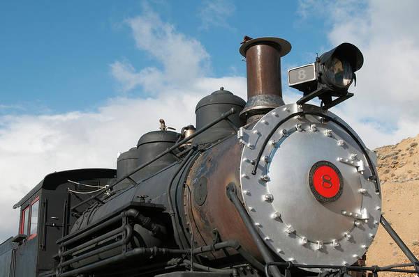 Virginia City Photograph - Usa, Nevada Old Steam Locomotive by Michael Defreitas
