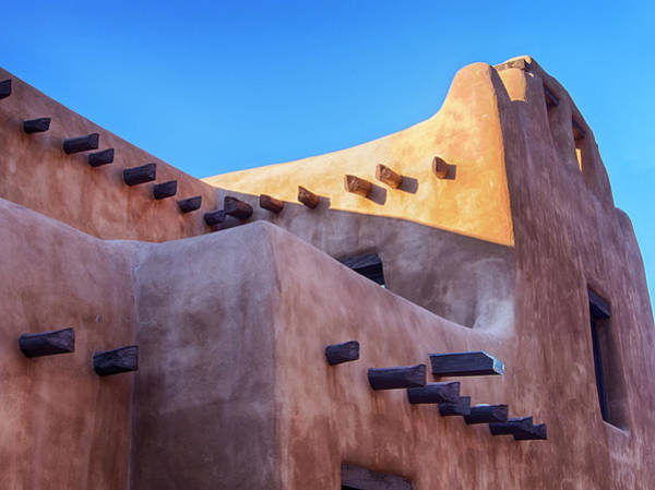 Wall Art - Photograph - Usa, New Mexico, Sant Fe, Adobe by Terry Eggers