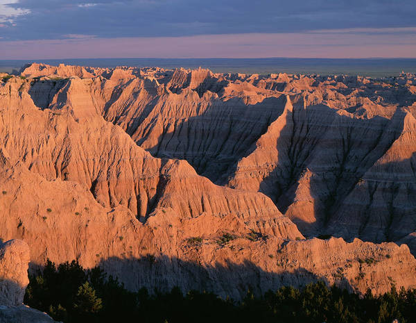 Gully Photograph - Usa, South Dakota, Badlands National by John Barger