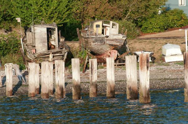 Narrow Boat Wall Art - Photograph - Usa, Wa, Puget Sound by Trish Drury