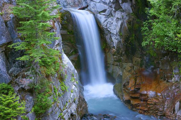Christine Falls Photograph - Usa, Washington, Mount Rainier National by Jaynes Gallery