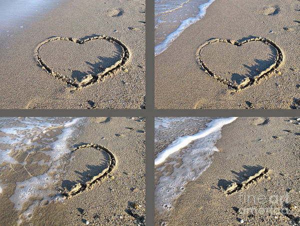 Photograph - Valentine's Day Sand Heart by Daliana Pacuraru