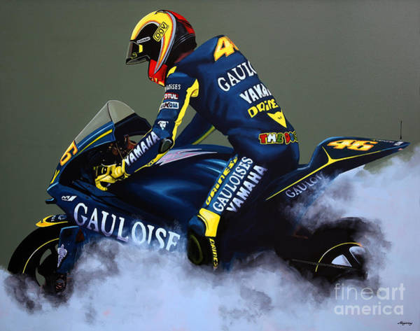 Goat Painting - Valentino Rossi by Paul Meijering