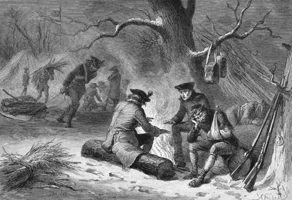Photograph - Valley Forge: Winter, 1777 by Granger