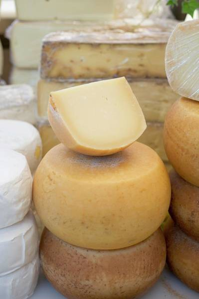 Wall Art - Photograph - Various Cheeses In A Shop by Eising Studio - Food Photo and Video