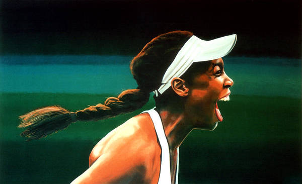 U S Painting - Venus Williams by Paul Meijering