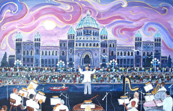 Musical Theme Painting - Victoria Symphony Splash by Virginia Ann Hemingson