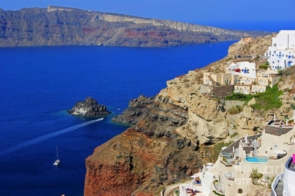 Photograph - View From Oia by David Birchall