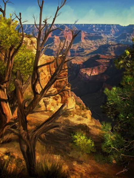Southwest Digital Art - View From South Rim by Dale Jackson