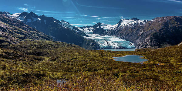 Moraine Lake Photograph - View Of Portage Glacier From Portage by Panoramic Images
