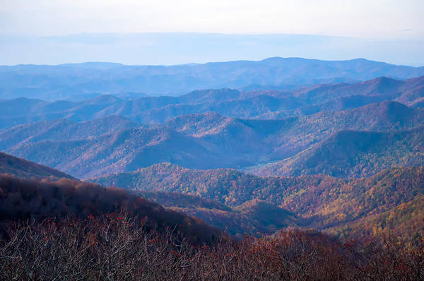 Photograph - View Of The Blue Ridge Mountains During Fall Season by Alex Grichenko