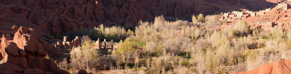 Dade Photograph - Village In The Dades Valley, Dades by Panoramic Images