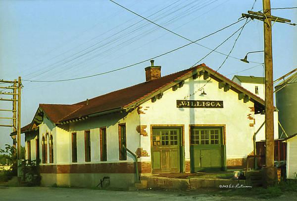 Photograph - Villisca Train Depot by Edward Peterson