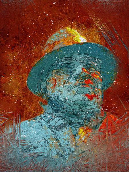 Wi Painting - Vince Lombardi by Jack Zulli