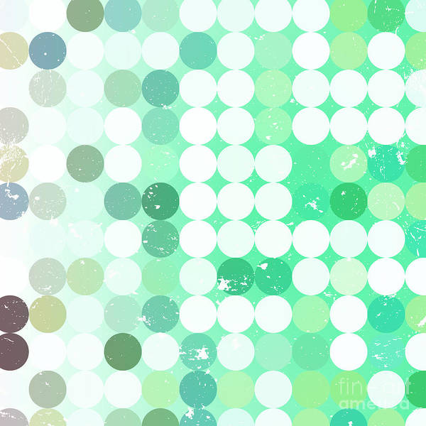 Bright Digital Art - Vintage  Circles Pattern.geometric by Veronika M
