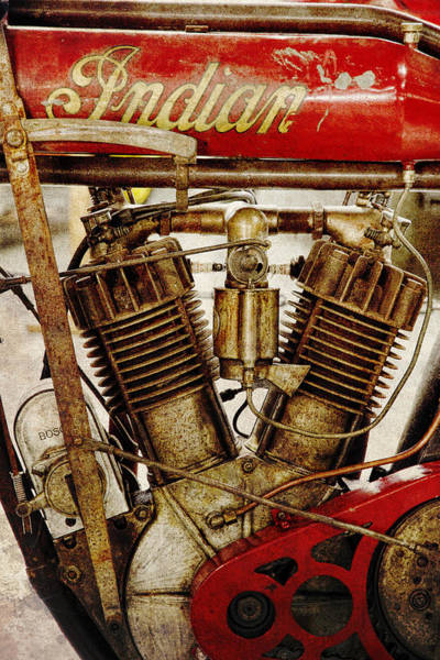Wall Art - Photograph - Vintage Indian Motorcycle by Steve McKinzie