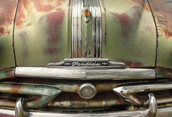 Oxidized Photograph - Vintage Pontiac Grille by Jim Hughes