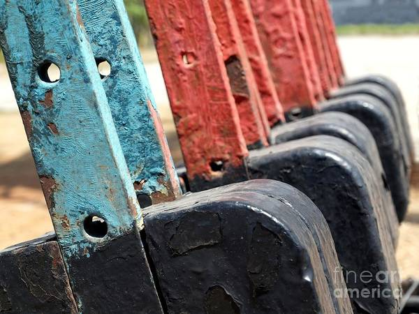 Manual Focus Wall Art - Photograph - Vintage Railroad Switches by Yali Shi