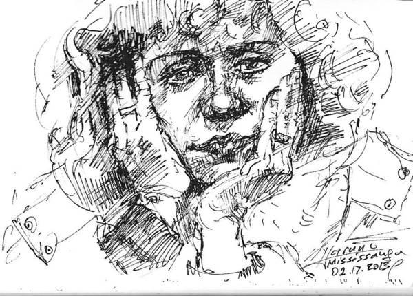 Girl Drawing - Viola by Ylli Haruni