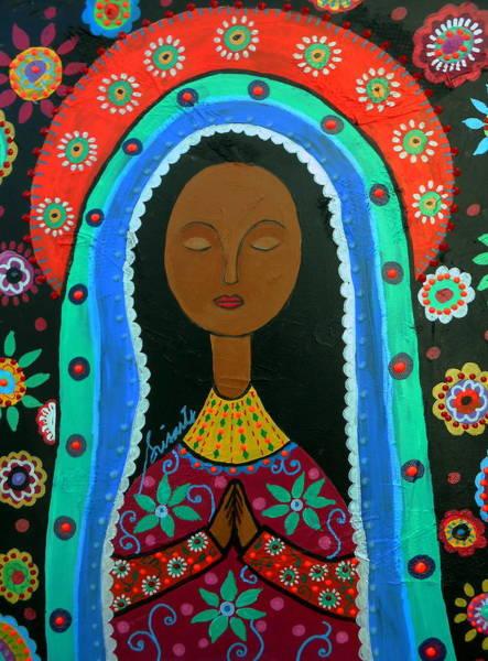 Painting - Virgin Guadalupe by Pristine Cartera Turkus