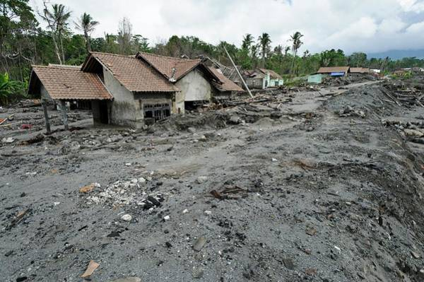 Mud House Photograph - Volcanic Destruction by Matthew Oldfield/science Photo Library