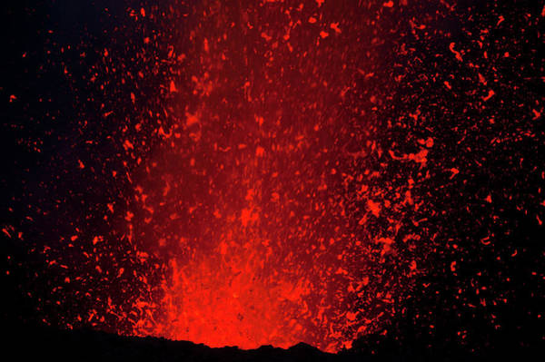 Yasur Photograph - Volcano Eruptions At Yasur Volcano by Michael Runkel
