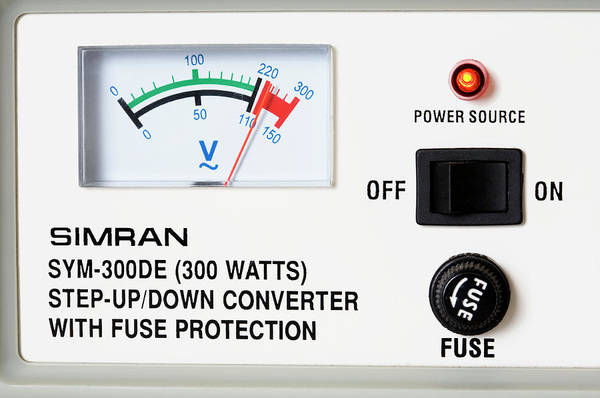 Voltage Photograph - Voltage Converter by Emmeline Watkins/science Photo Library