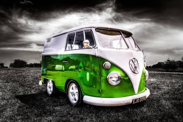 Volkswagen Camper Photograph - Vw Camper Van by Ian Hufton