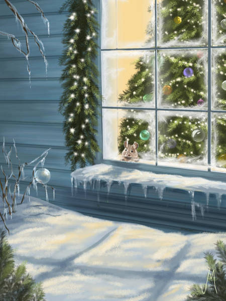 Window Painting - Waiting... by Veronica Minozzi